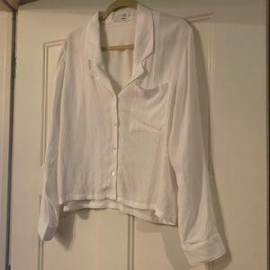 Aritzia white button up blouse